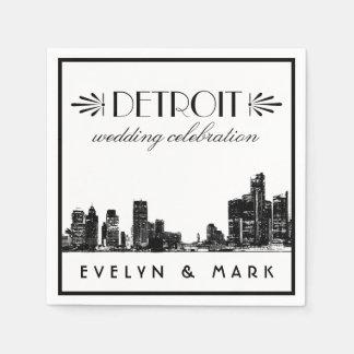 Wedding Napkins   Detroit Wedding Celebration Disposable Napkin