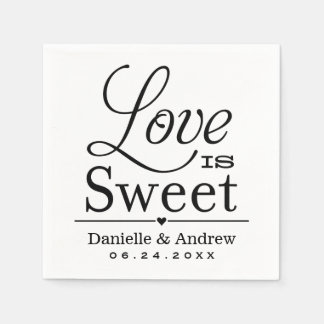 Wedding Napkins | Love is Sweet Custom Design