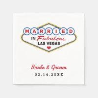 Wedding Napkins | Married in Las Vegas