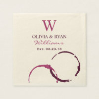 Wedding Napkins | Wine Monogram