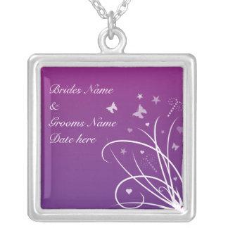 Wedding Necklace - Purple butterfly sw