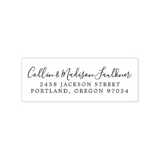 Wedding Newlywed Return Address Rubber Stamp