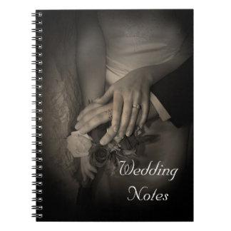 """Wedding Notes"" Bride or Groom Planning Notebook"