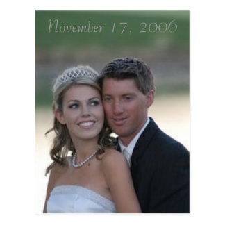wedding, November 17, 2006 Postcard