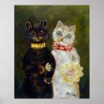Wedding of Cat, Louis Wain Poster