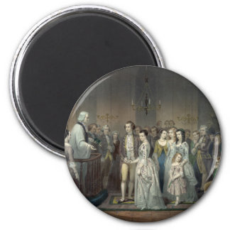 Wedding of George Washington magnet