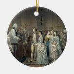 Wedding of George Washington ornament