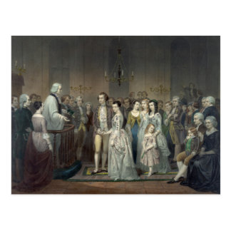 Wedding of George Washington postcard
