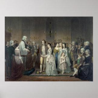 """Wedding of George Washington"" print/poster Poster"