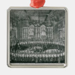 Wedding of Peter I  and Catherine  in the Winter Christmas Tree Ornament