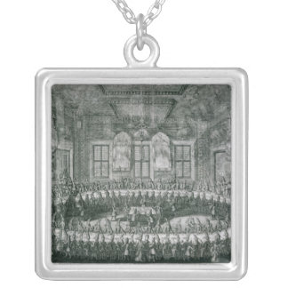 Wedding of Peter I  and Catherine  in the Winter Silver Plated Necklace