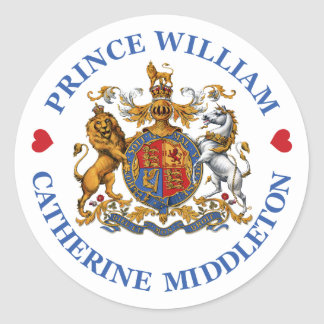 Wedding of Prince William and Catherine Middleton Classic Round Sticker