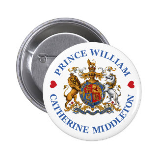 Wedding of Prince William and Catherine Middleton Pinback Button