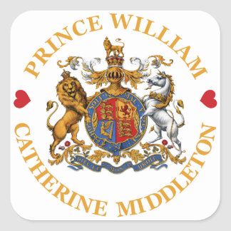 Wedding of Prince William and Catherine Middleton Square Sticker
