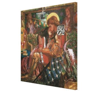 Wedding of St George, Princess Sabra by Rossetti Canvas Print