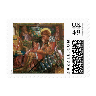 Wedding of St George, Princess Sabra by Rossetti Postage