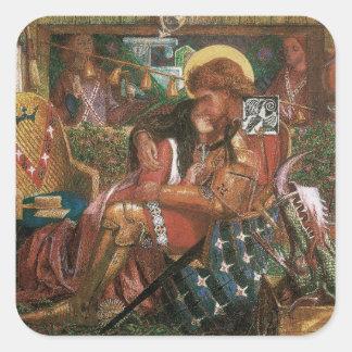 Wedding of St George, Princess Sabra by Rossetti Square Sticker