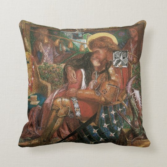 Wedding of St George, Princess Sabra by Rossetti Throw Pillow