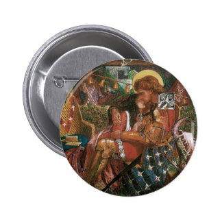 Wedding of St George Princess Sabra Dante Rossetti Pinback Buttons