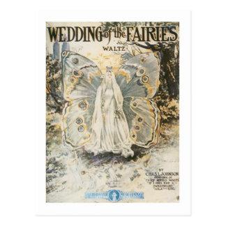 Wedding of the Fairies Postcard
