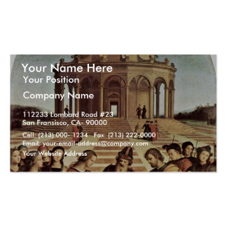 Wedding Of The Virgin By Raffael (Best Quality) Double-Sided Standard Business Cards (Pack Of 100)
