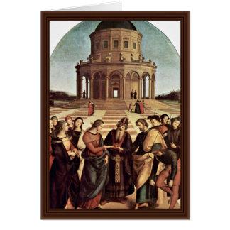 Wedding Of The Virgin By Raffael (Best Quality) Greeting Cards