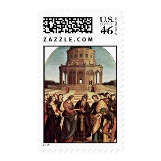 Wedding Of The Virgin By Raffael (Best Quality) Postage Stamp