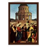 Wedding Of The Virgin By Raffael Greeting Card