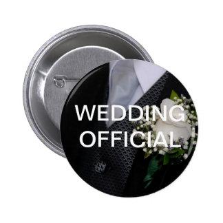 Wedding Official Pinback Button