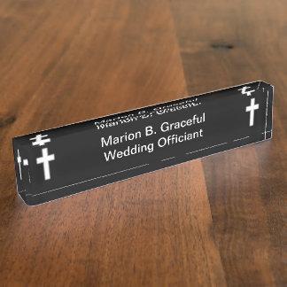 Wedding Officiant Desk Nameplate