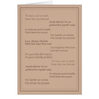 Wedding Officiant Thank You Card at Zazzle