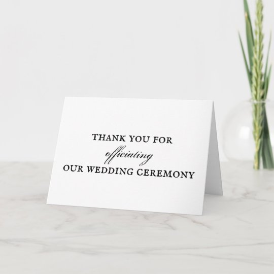 Wedding Officiant Thank You Card