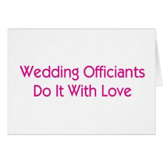 Wedding Officiants Card