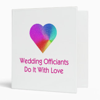 Wedding Officiants Do It With Love Binder