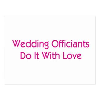 Wedding Officiants Postcard