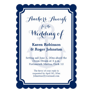 Wedding on a Boat - Anchors Aweigh Card