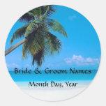 Wedding on the Beach Stickers