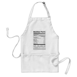 Wedding or Anniversary Sweet Funny Nutrition Label Aprons