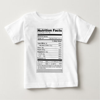 Wedding or Anniversary Sweet Funny Nutrition Label Infant T-shirt