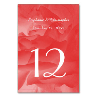 Wedding or Anniversary Table Number Table Cards