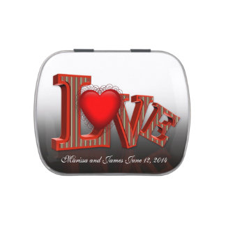 Wedding or Party favor LOVE Candy Tin