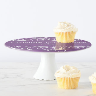 Wedding or Shower Cake Display - Any Color - Swirl Cake Stand