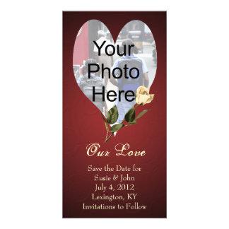 Wedding or Valentine Custom Photo Card