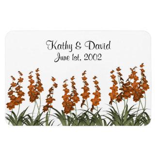 Wedding Orange Flowers Magnet
