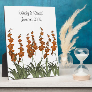Wedding Orange Flowers Plaque