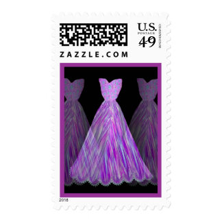 Wedding ORCHID PURPLE Bridesmaid Dresses Postage Stamp