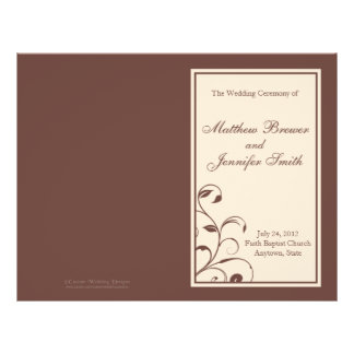 "Wedding Order of Service and Ceremony Program 8.5"" X 11"" Flyer"