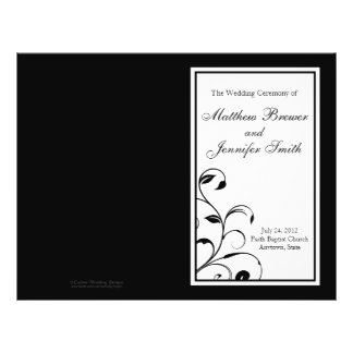 Wedding Order of Service and Ceremony Program Flyer
