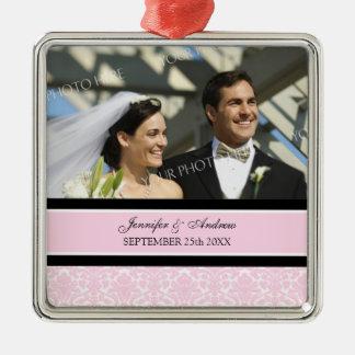 Wedding Ornament Favor Pink Black Damask