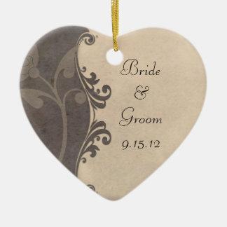 Wedding Ornament Grey and Beige